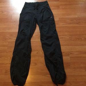 Black Lululemon dance studio pants